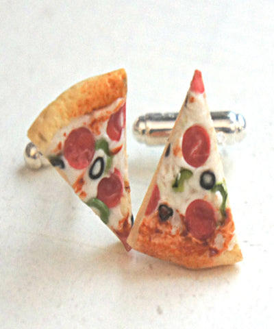 Pizza Cuff Links - Jillicious charms and accessories - 1