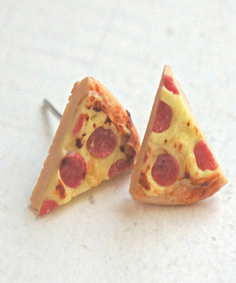 Pizza Stud Earrings - Jillicious charms and accessories - 2
