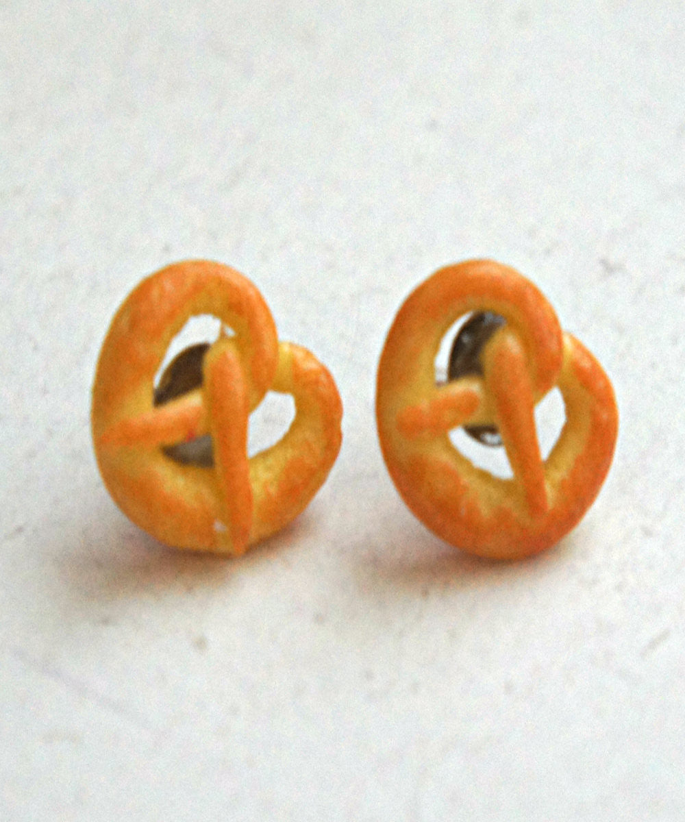 Pretzels Stud Earrings - Jillicious charms and accessories