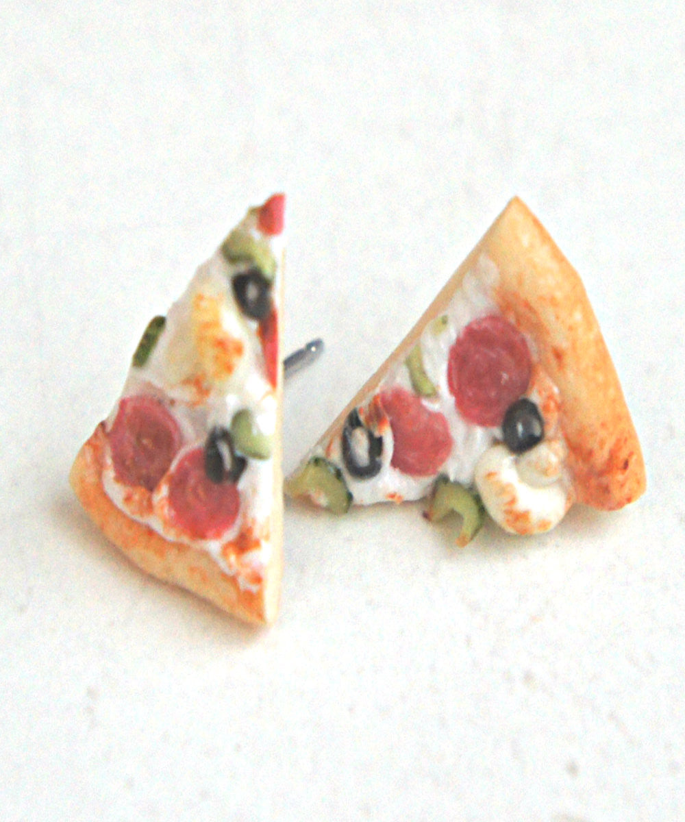 Pizza Stud Earrings - Jillicious charms and accessories - 1