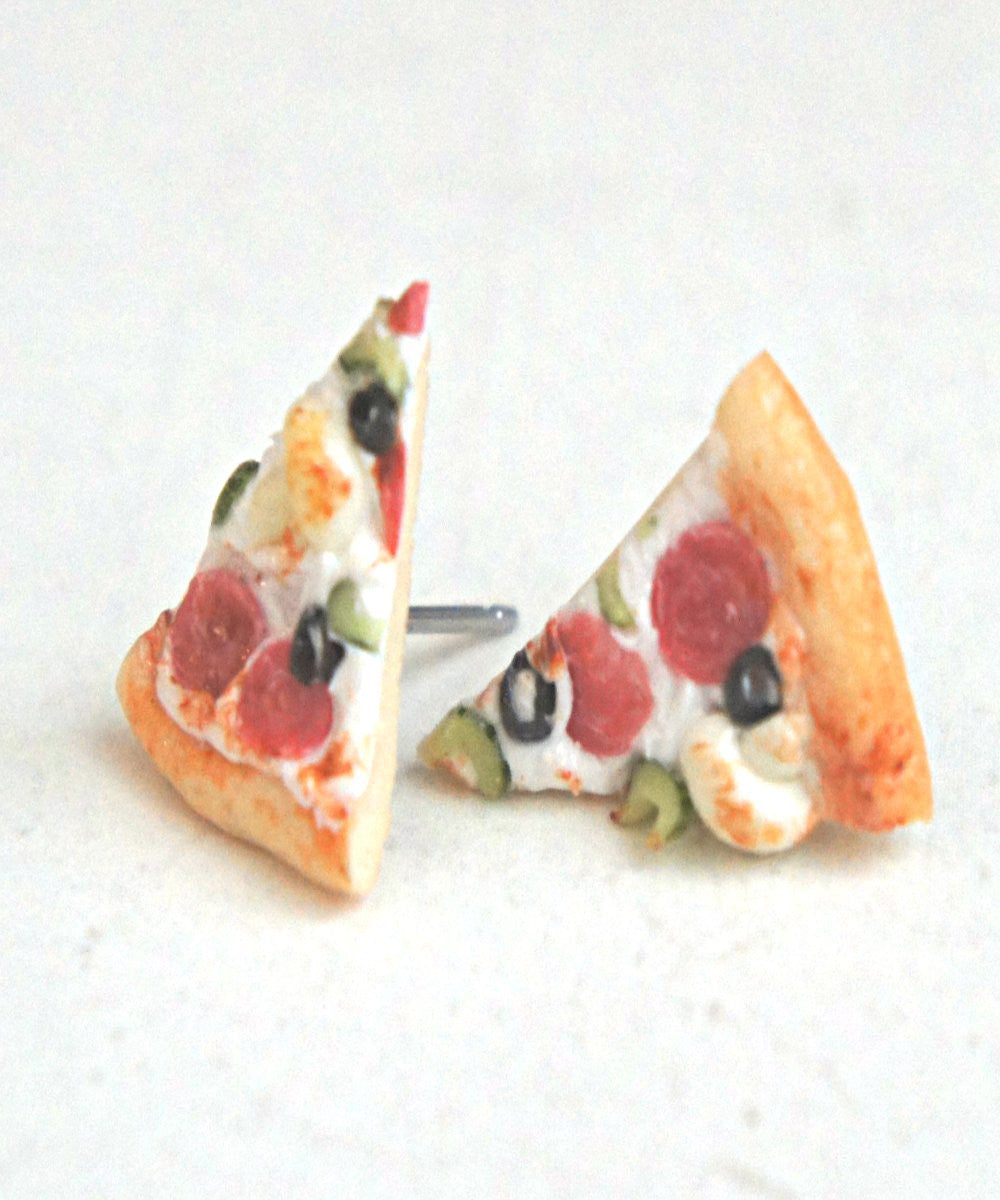 Pizza Stud Earrings - Jillicious charms and accessories - 3