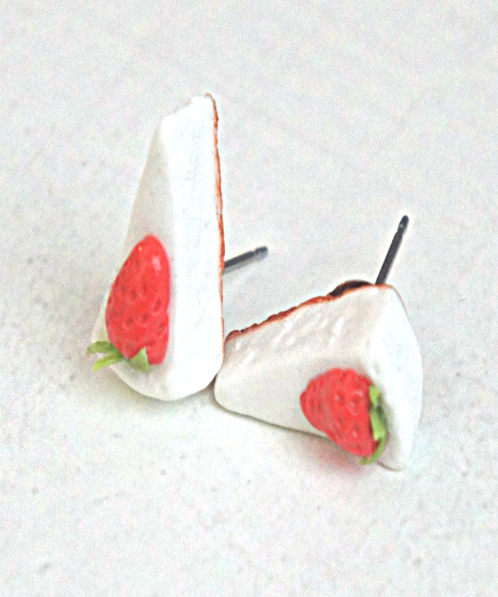 Strawberry Cheesecake Stud Earrings - Jillicious charms and accessories