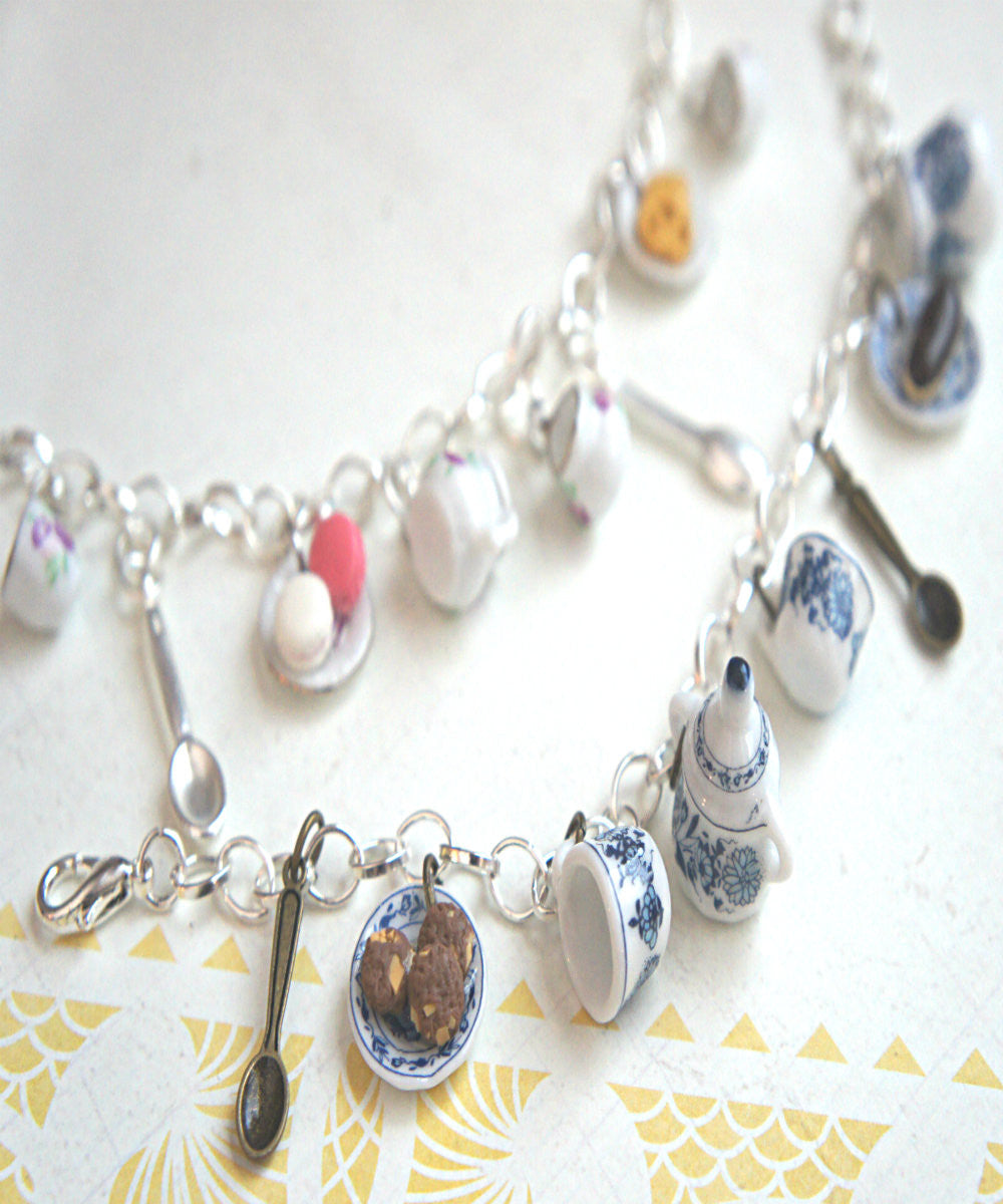 Tea Party Charm Bracelet - Jillicious charms and accessories