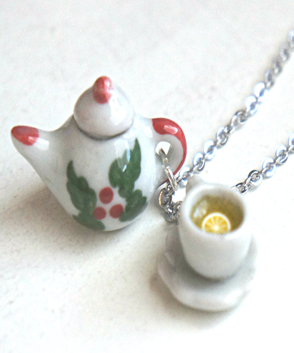 Christmas tea set necklace - Jillicious charms and accessories - 2