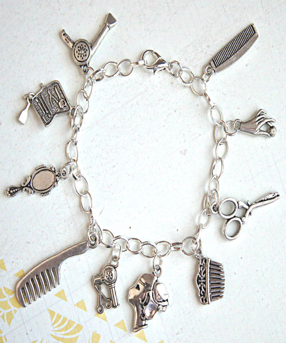 hair/salon stylist charm bracelet - Jillicious charms and accessories - 1