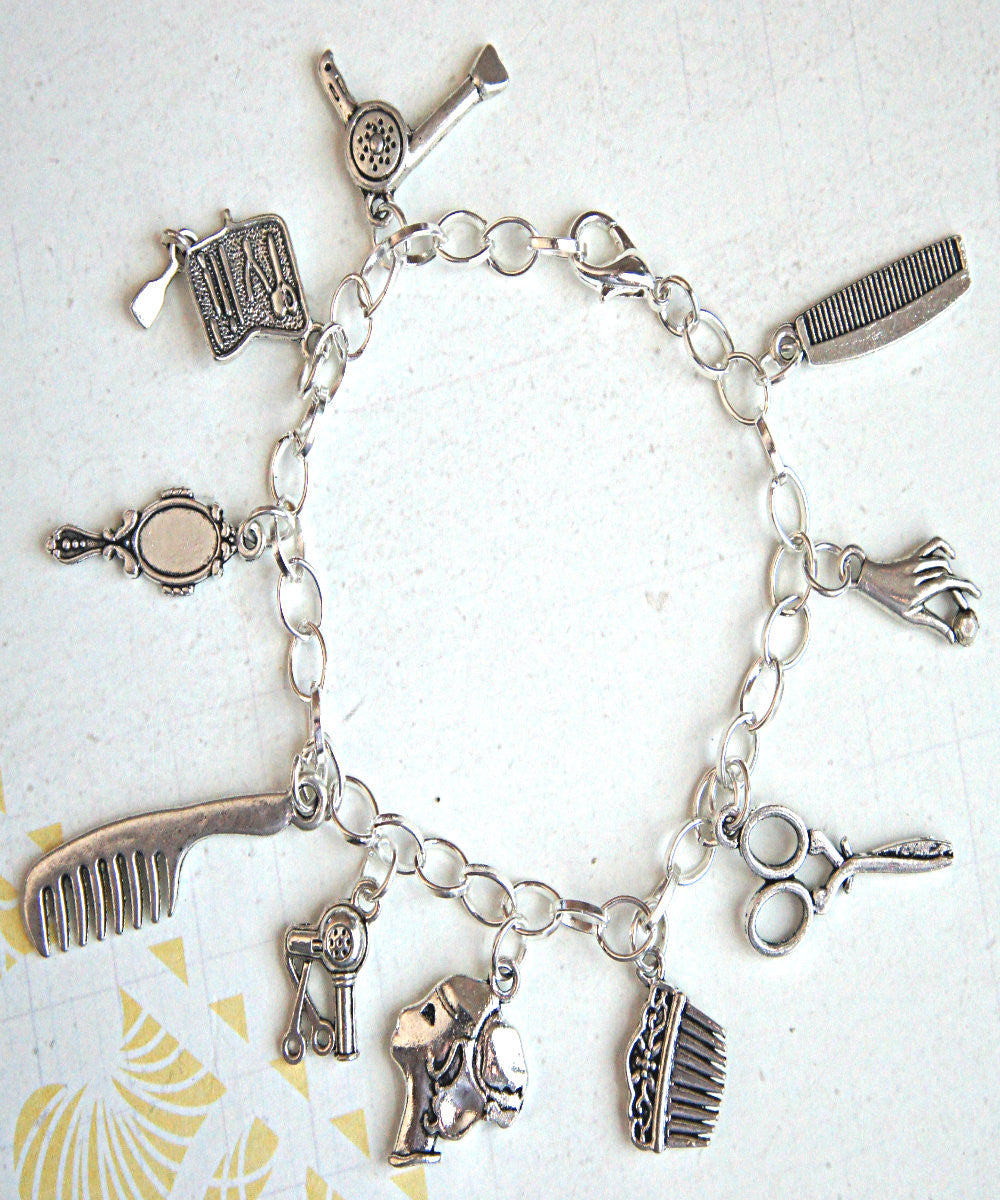 hair/salon stylist charm bracelet - Jillicious charms and accessories - 2