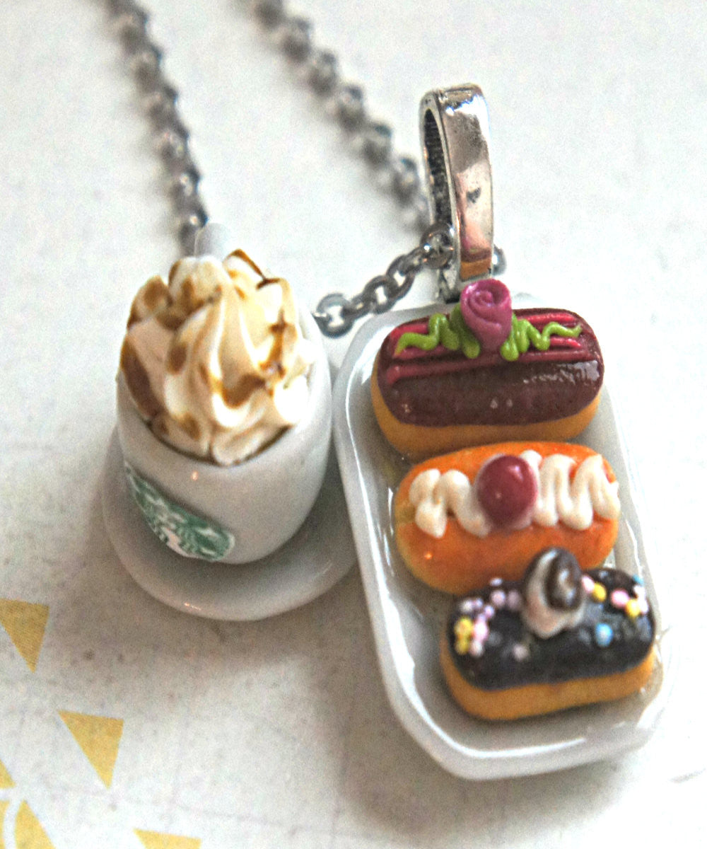 eclairs and starbucks coffee necklace - Jillicious charms and accessories