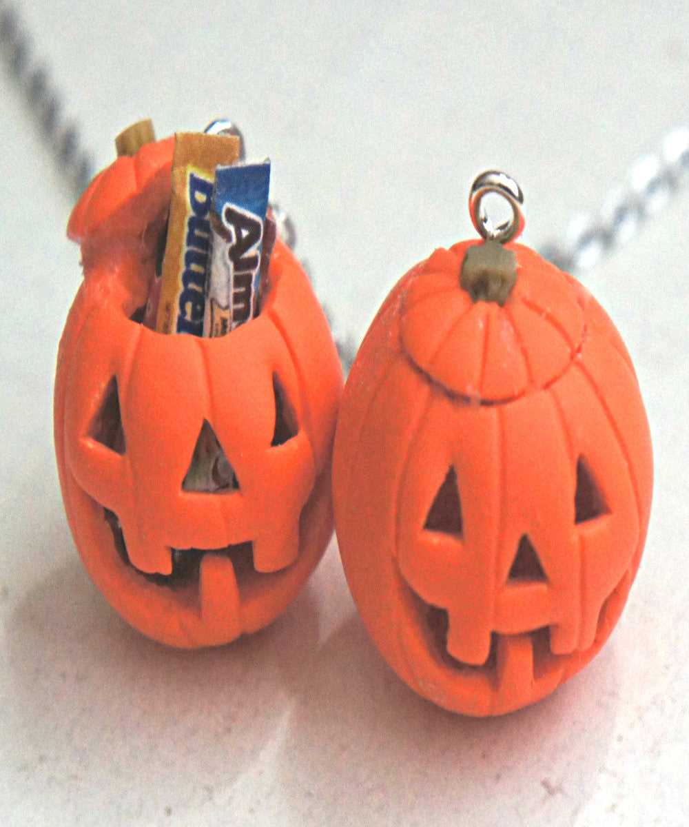 Jack O Lantern Necklace - Jillicious charms and accessories - 4
