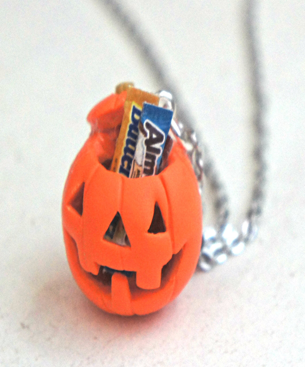 Jack O Lantern Necklace - Jillicious charms and accessories - 3