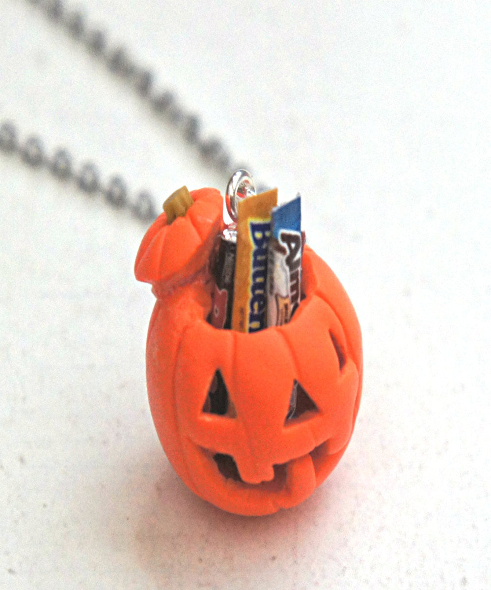 Jack O Lantern Necklace - Jillicious charms and accessories - 1