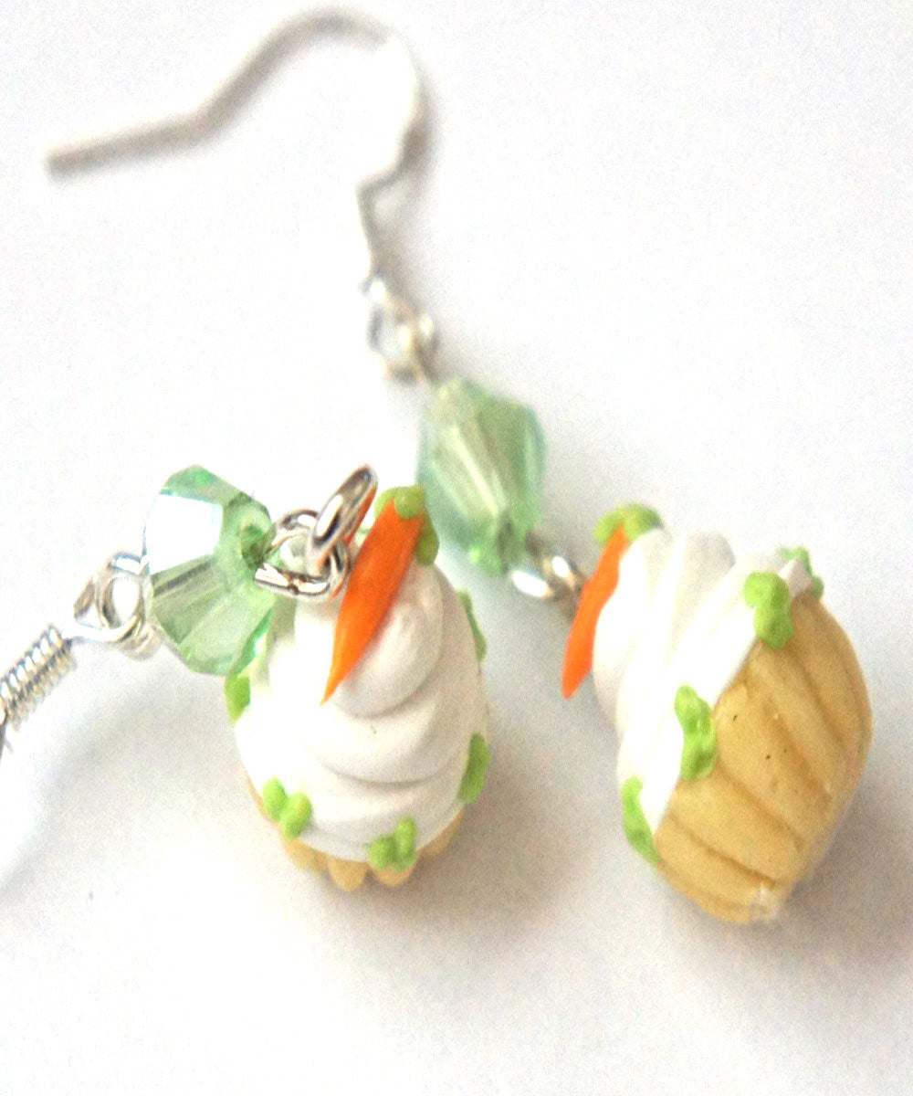Carrot Cupcake Dangle Earrings - Jillicious charms and accessories - 2