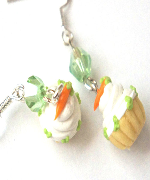 Carrot Cupcake Dangle Earrings - Jillicious charms and accessories