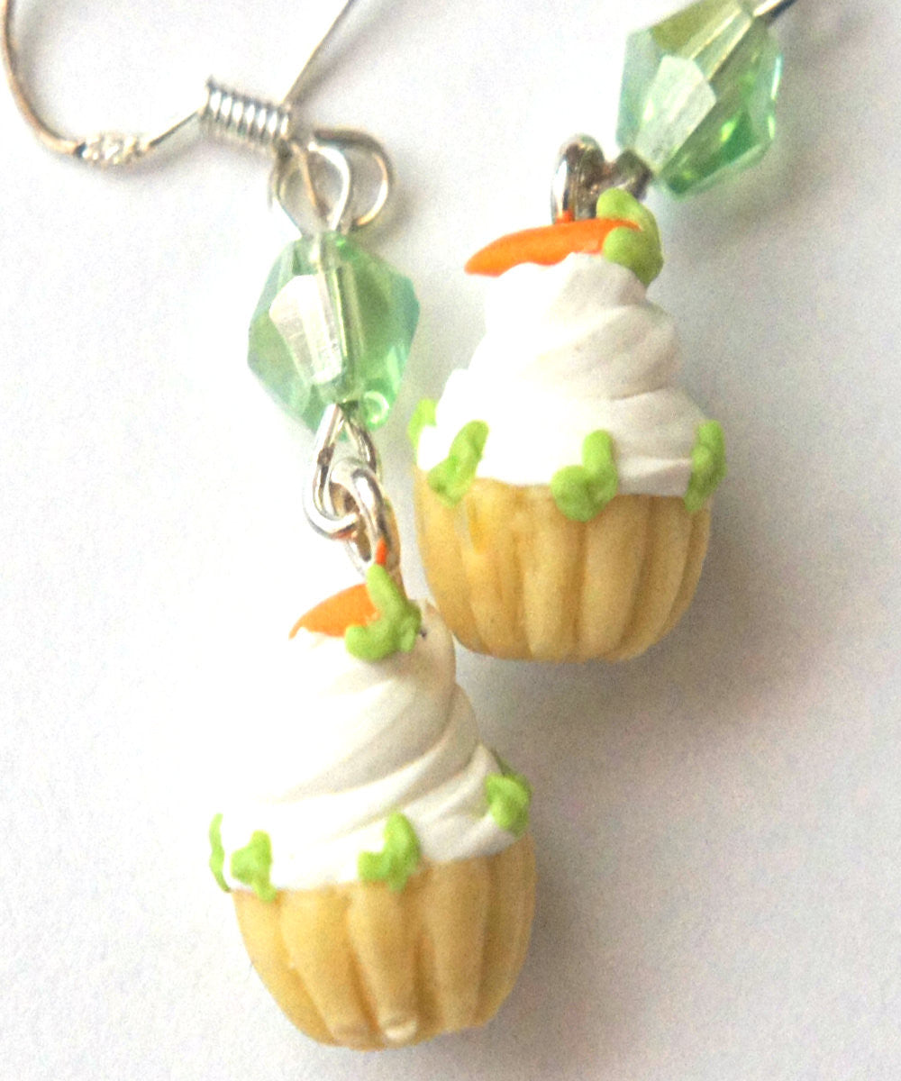 Carrot Cupcake Dangle Earrings - Jillicious charms and accessories - 5