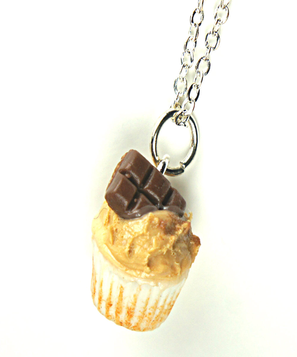 chocolate peanut butter cupcake necklace - Jillicious charms and accessories