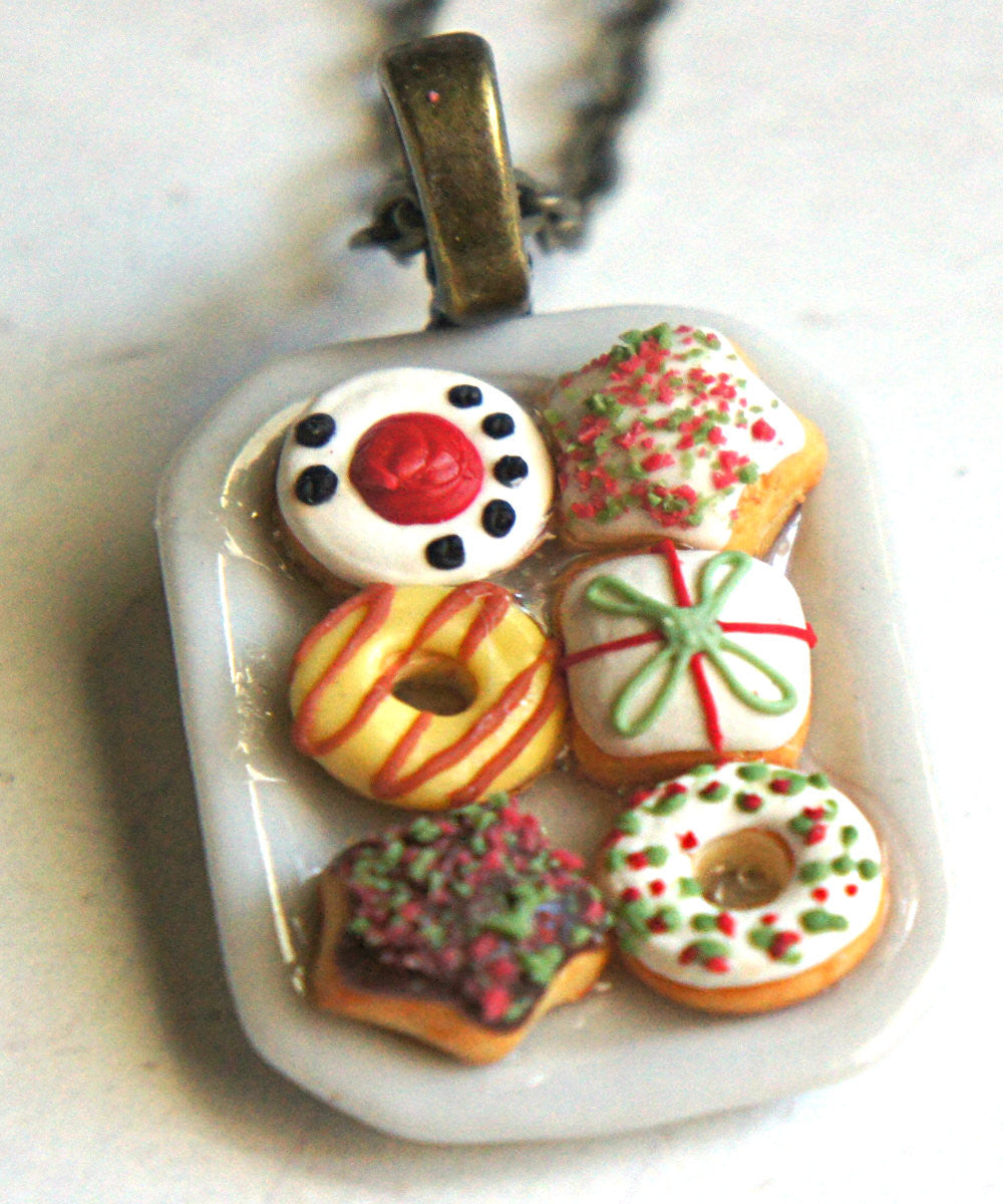 Christmas Donuts Necklace - Jillicious charms and accessories - 1