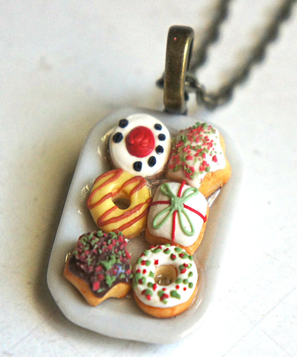 Christmas Donuts Necklace - Jillicious charms and accessories