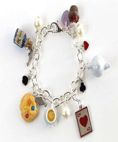Alice in Wonderland Themed Charm Bracelet - Jillicious charms and accessories - 1