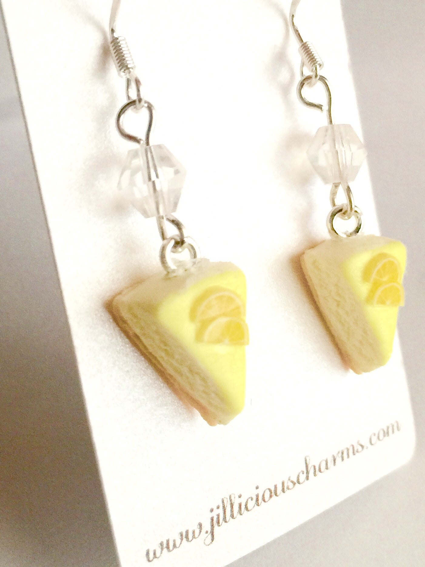 Lemon Cheesecake Dangle Earrings - Jillicious charms and accessories - 3