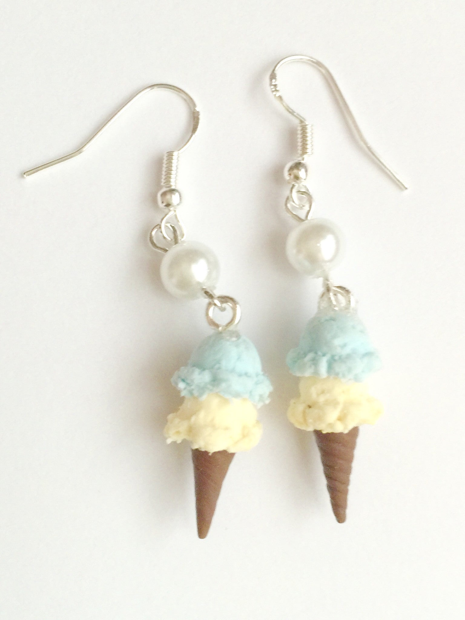 Ice Cream Cone Earrings - Jillicious charms and accessories