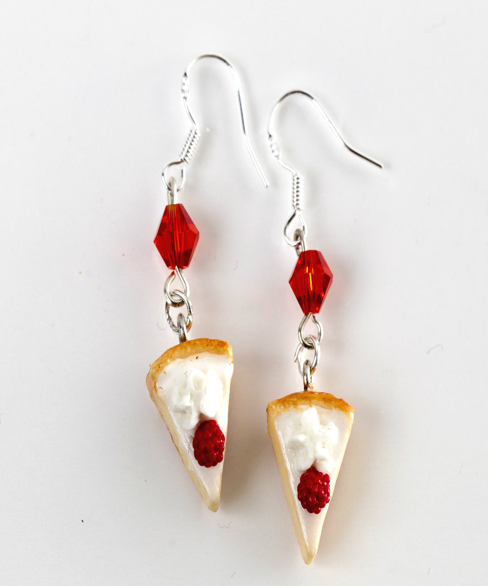 White Chocolate Raspberry Cheesecake Dangle Earrings - Jillicious charms and accessories - 2