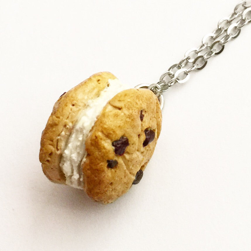 Chocolate Chip Cookie Ice Cream Sandwich Necklace - Jillicious charms and accessories - 1