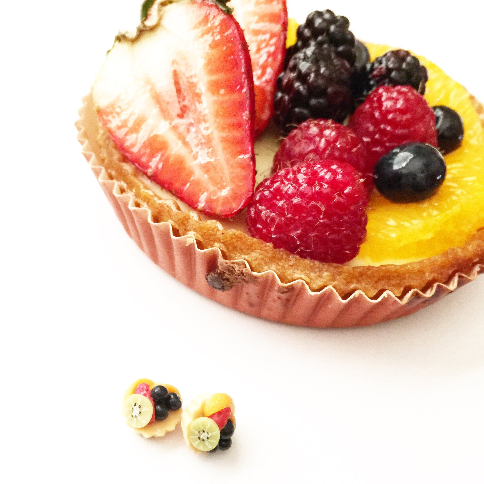 fruit tart earrings - Jillicious charms and accessories