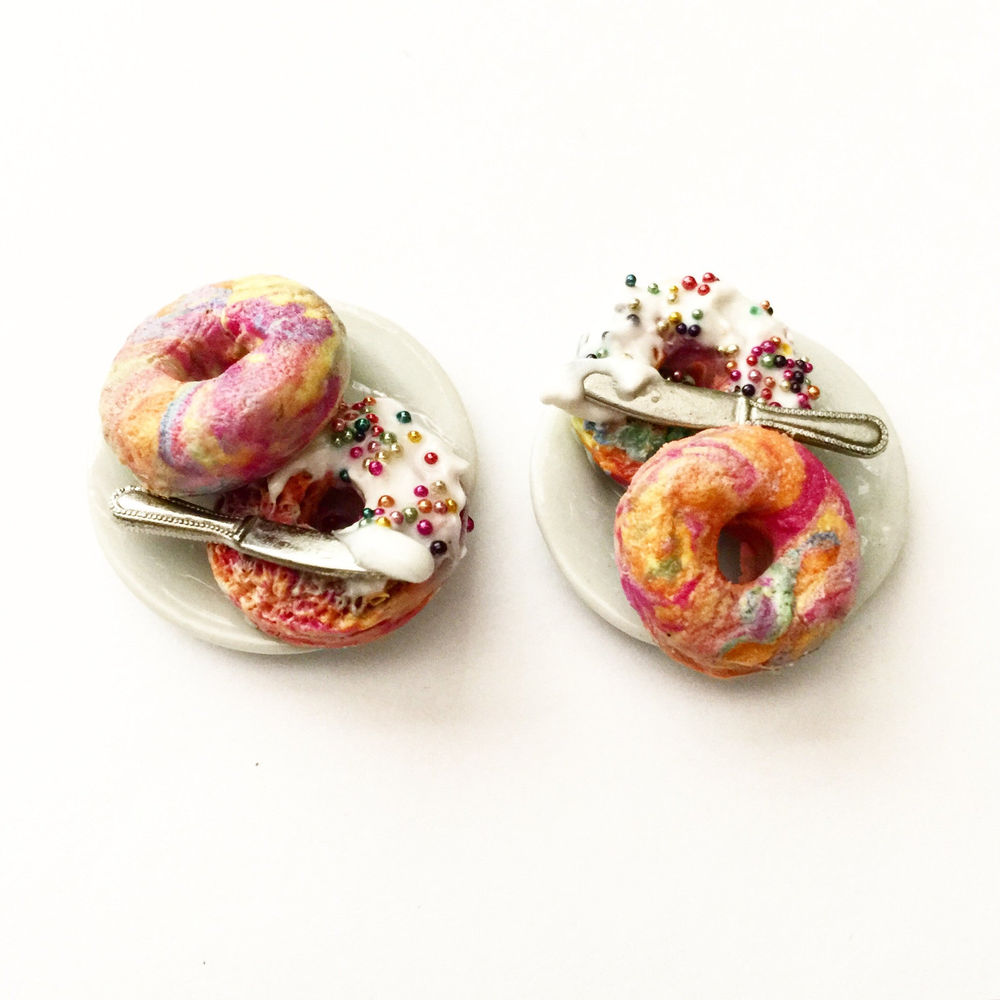 Rainbow Bagel Ring - Jillicious charms and accessories - 7
