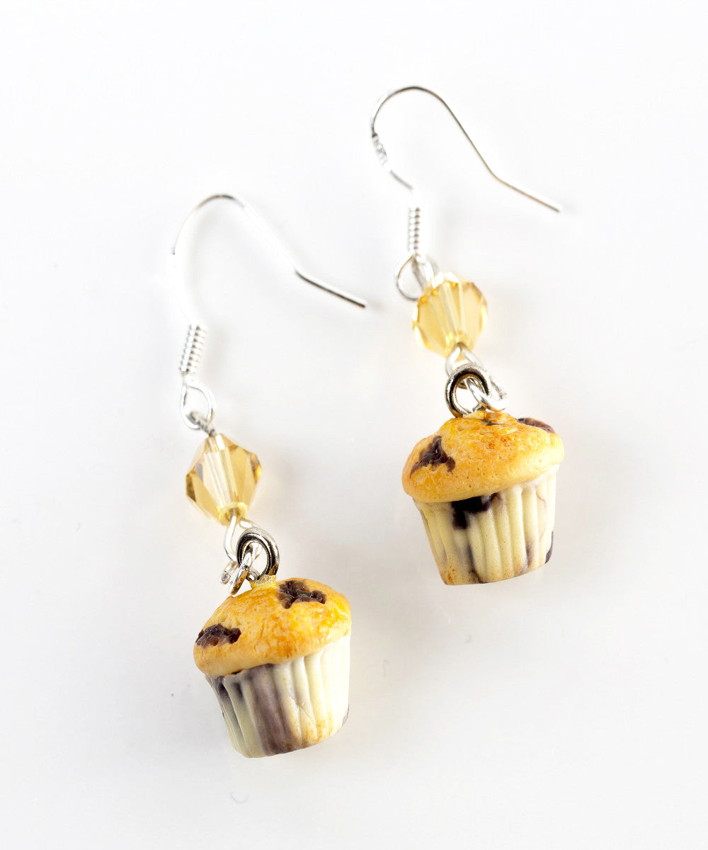 Blueberry Muffins Dangle Earrings - Jillicious charms and accessories - 1