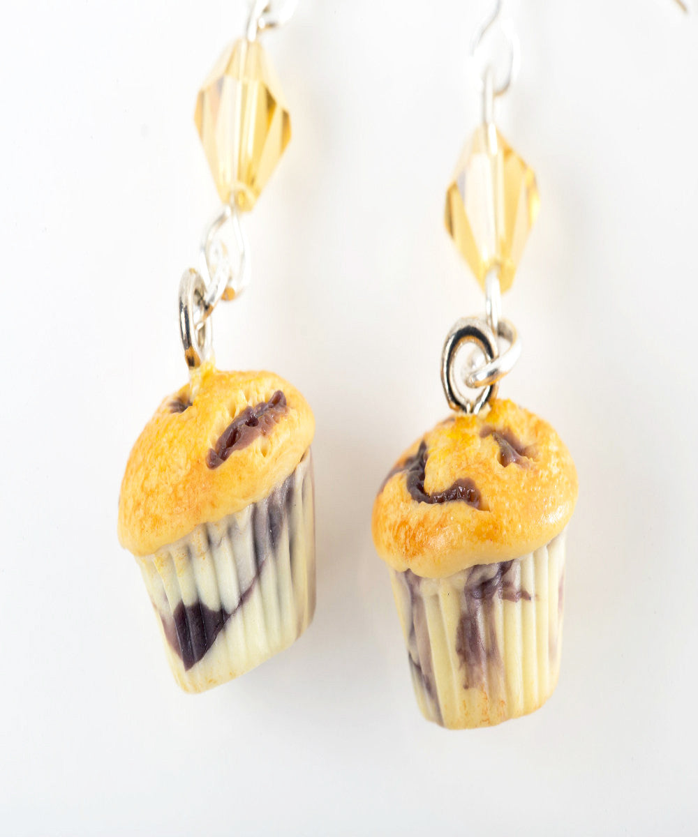 Blueberry Muffins Dangle Earrings - Jillicious charms and accessories - 2