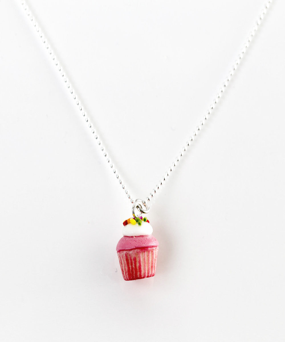 Strawberries and Cream Cupcake Necklace - Jillicious charms and accessories - 2