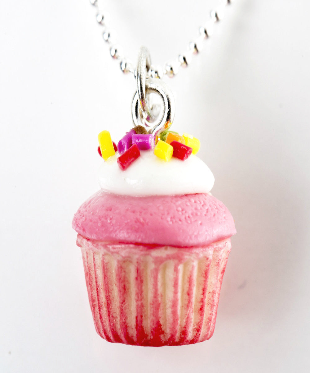 Strawberries and Cream Cupcake Necklace - Jillicious charms and accessories