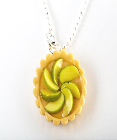 green apple tart necklace - Jillicious charms and accessories