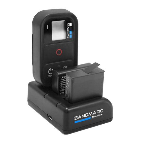 sandmarc gopro hero 5 hero 4 and smart wifi remote charger