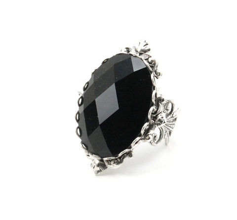 Black Beauty Jeweled Ring