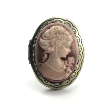 Neo Victorian Cameo Locket Ring (rose gold)