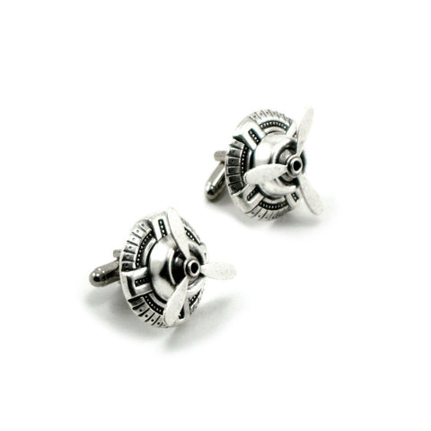 Sky Captain Cuff Links (silver)