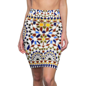 Women's Pencil Skirts,2XL / 4 oz.,Morocco Arabesque Women's Pencil Skirt | Bikerisma ™
