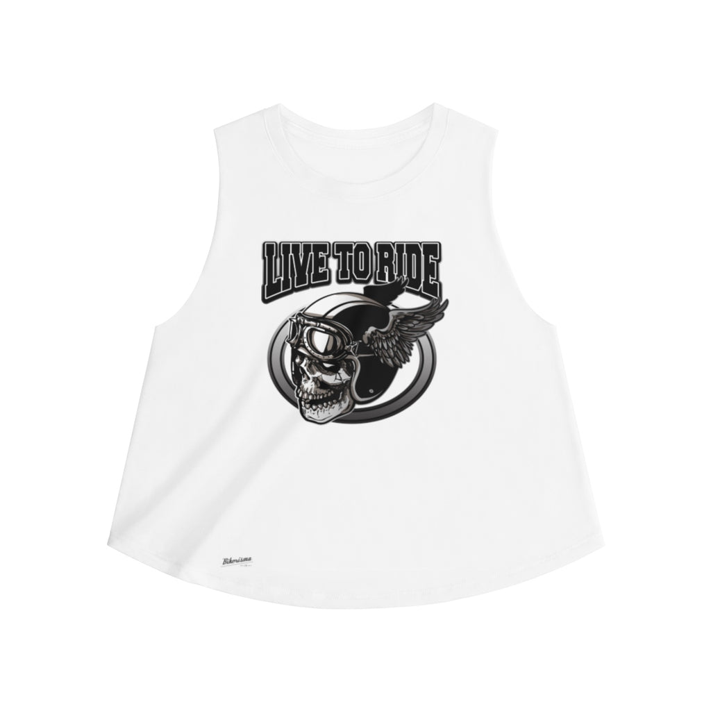 Tank Top,2XL / Solid White Blend,Live to Ride Women Top | Bikerisma ™