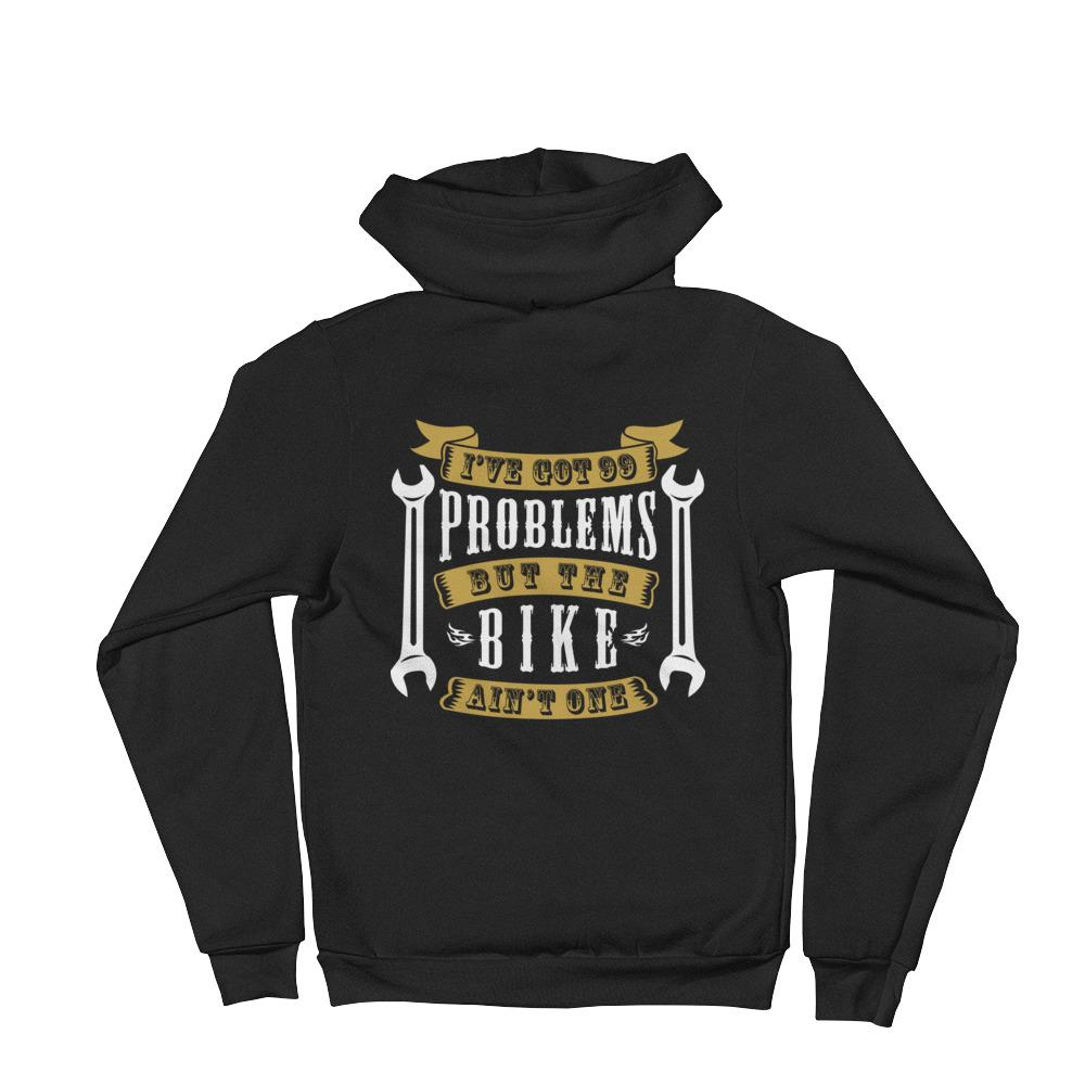 Women's Hoodie,Black / 2XL,I Got 99 Problems Women Biker Hoodies | thebikerstshirt