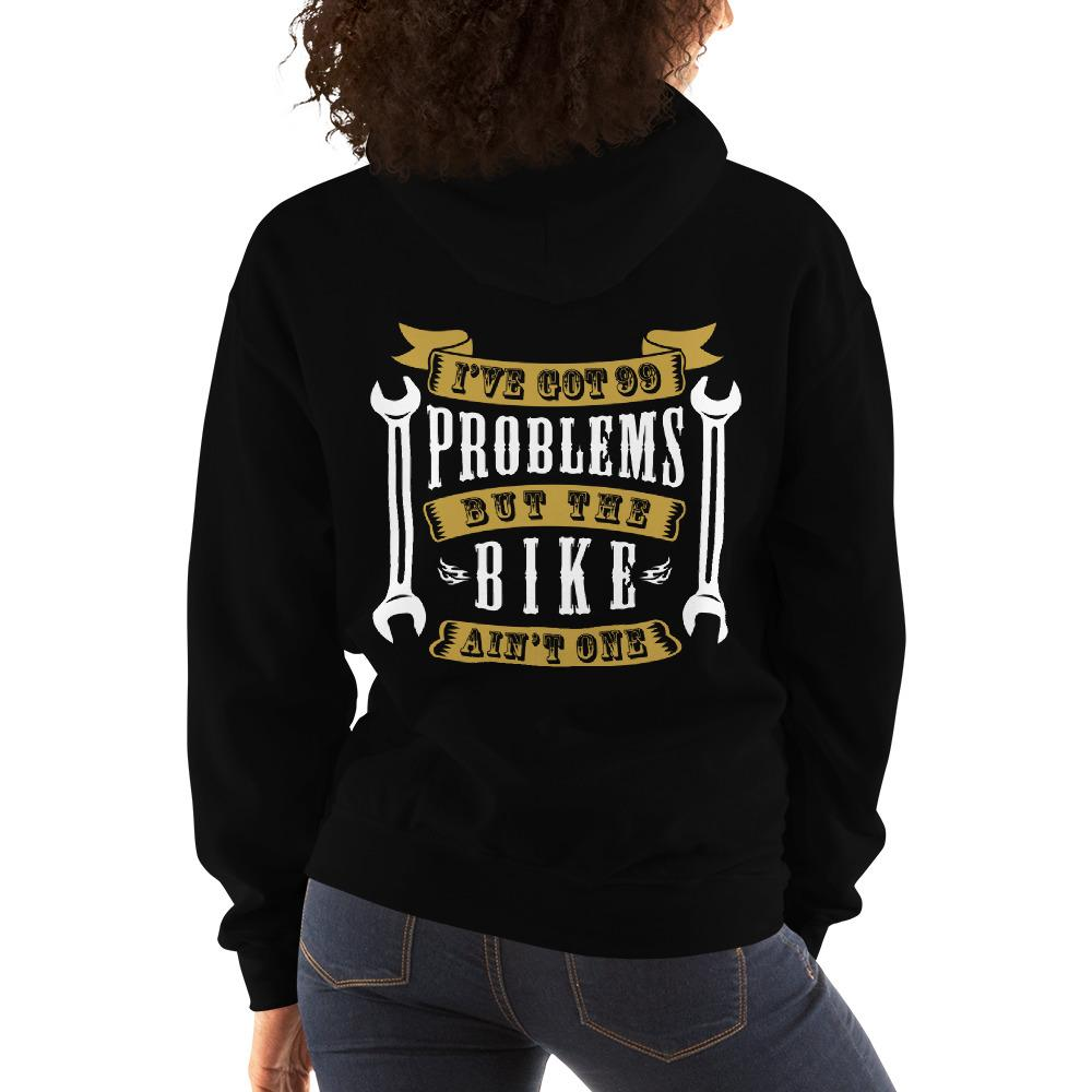 Women's Hoodie,,I Got 99 Problems Women Biker Hoodies | thebikerstshirt