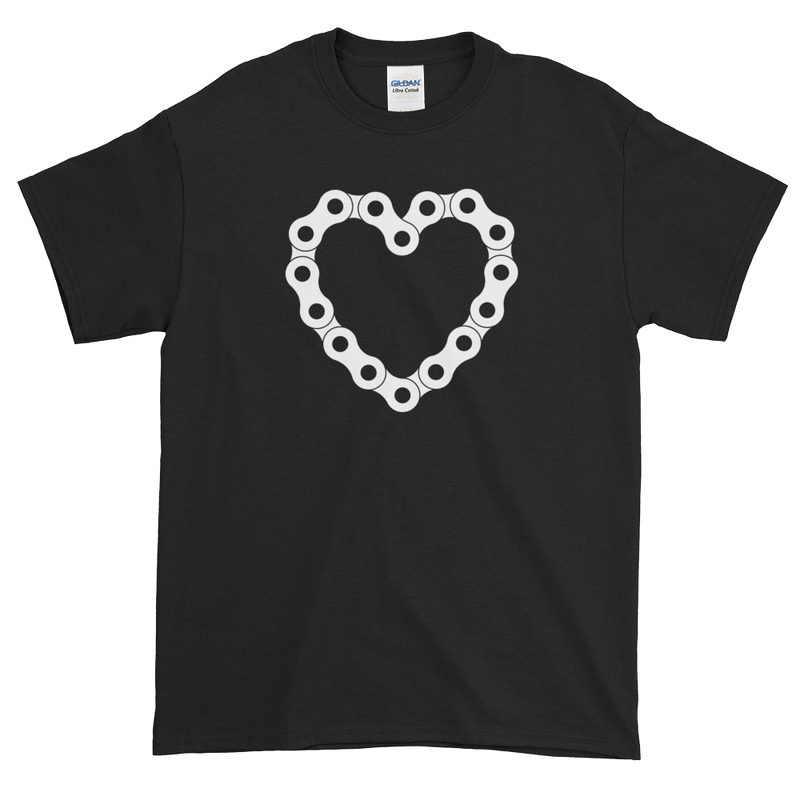 Men's T Shirt,Black / 3XL,A Biker's Heart T-Shirt | thebikerstshirt