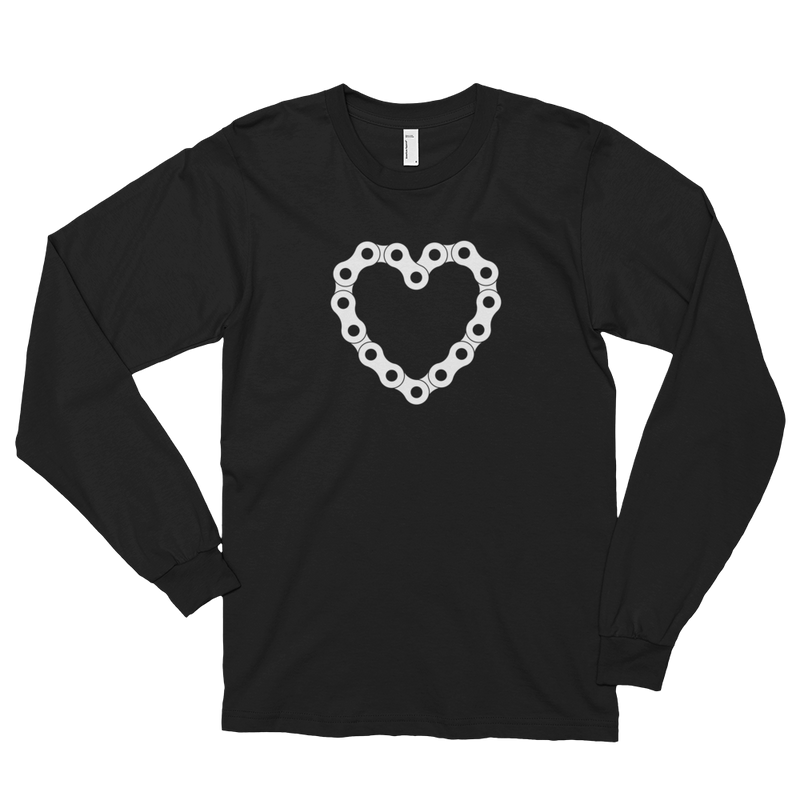 Men's Long Sleeve Shirt,Black / 2XL,A Biker's Heart Long Sleeve Shirt | thebikerstshirt