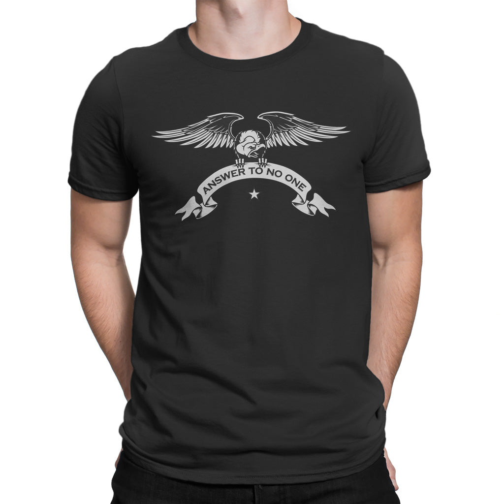 Men's T Shirt,,Answer To No One T-Shirt | thebikerstshirt