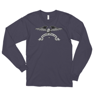 Men's Long Sleeve Shirt,Asphalt / 2XL,Answer To No One Long Sleeve Shirt | thebikerstshirt