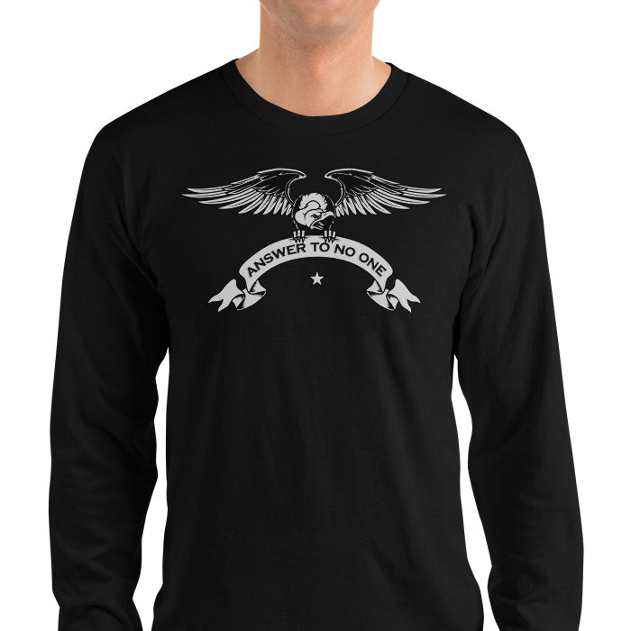 Men's Long Sleeve Shirt,,Answer To No One Long Sleeve Shirt | thebikerstshirt