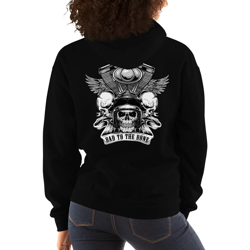 Women's Hoodie,,Bad to the Bone Hoodie for Women | thebikerstshirt