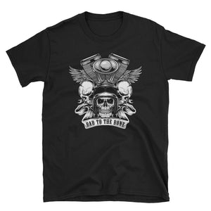 Men's T Shirt,Black / 3XL,Bad to the Bone T Shirt | Bikerisma ™