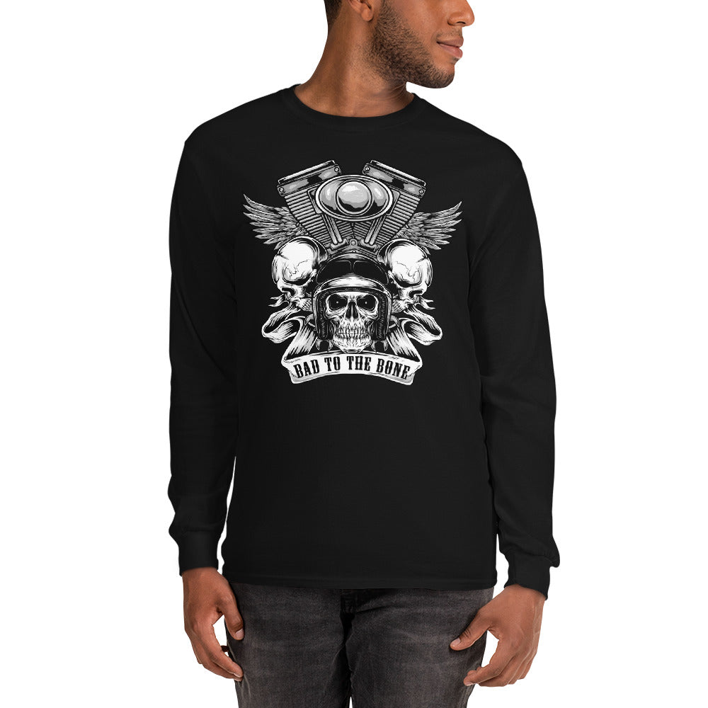 Men's Long Sleeve Shirt,,Bad to the Bone Long Sleeve Shirt | thebikerstshirt