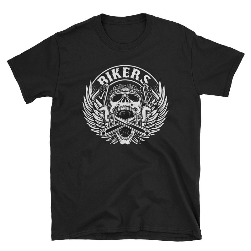 Men's T Shirt,Black / 3XL,Bikers Black Skull T Shirt | thebikerstshirt