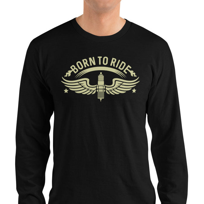 Men's Long Sleeve Shirt,,Born To Ride Long Sleeve Shirt | thebikerstshirt